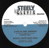 Garnet Silk - Love Is The Answer / A Man In Love (Steely & Clevie / Jah Fingers) 12""